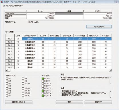 東方馬達 Oriental motor _ 驅動器的特徵與種類 各種監視功能 Alarm監視