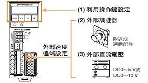 東方馬達 Oriental motor _ AC調速馬達 _ 可進行外部速度設定
